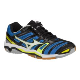Mizuno Men's Wave Stealth 4 Indoor Court Shoes - Blue/Black