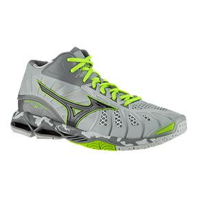 outlet store 3c1de 7e8a6 Mizuno Mens Wave Tornado X Mid Indoor Court Shoes - GreyGreen