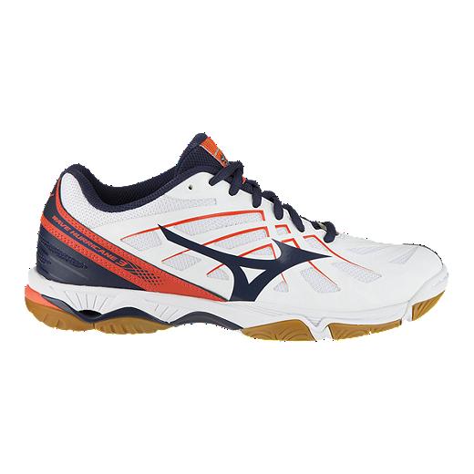 c652b0038e34 Mizuno Women's Hurricane 3 Indoor Court Shoes - White/Navy/Coral - WHITE/