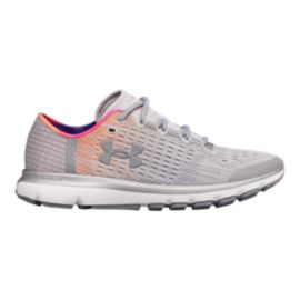 Under Armour Women's SpeedForm® Velociti 2 Record-Equipped Running Shoes - Grey/Orange/Pink
