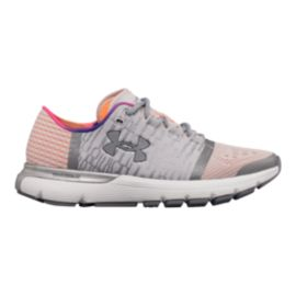 Under Armour Women's SpeedForm® Gemini 3 Graphic Record-Equipped Running Shoes - Grey/Pink
