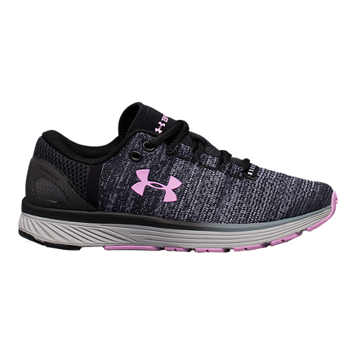 7826e5acbd Under Armour Girls' Charged Bandit 3 Grade School Shoes - Black/Rose