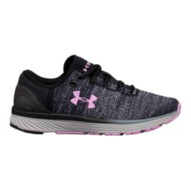 Under Armour Girls' Charged Bandit 3 Grade School Shoes - Black/Rose