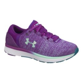 Under Armour Girls' Charged Bandit 3 Grade School Shoes - Purple/White