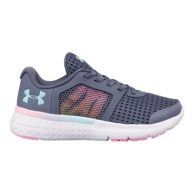 Under Armour Girls' Micro G Fuel Prism AC Preschool Shoes - Grey/White