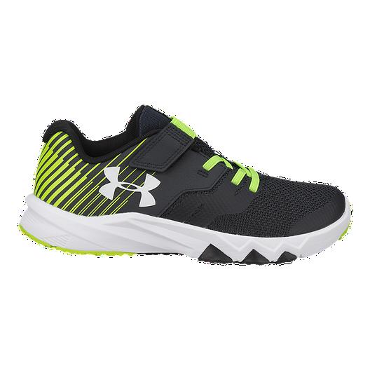 1fbd11f041f59 Under Armour Kids' Primed 2 AC Preschool Shoes - Grey/Green/Black ...