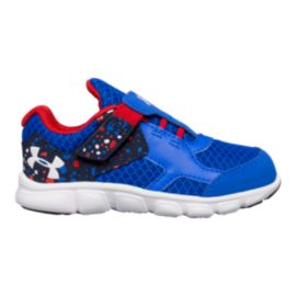 Under Armour Toddler Thrill RN Shoes - Blue/White/Red