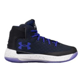 Under Armour Kids' Curry 3Zero Grade School Basketball Shoes - Anthracite/White