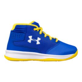 Under Armour Kids' Jet 2017 Preschool Basketball Shoes - Royal/White