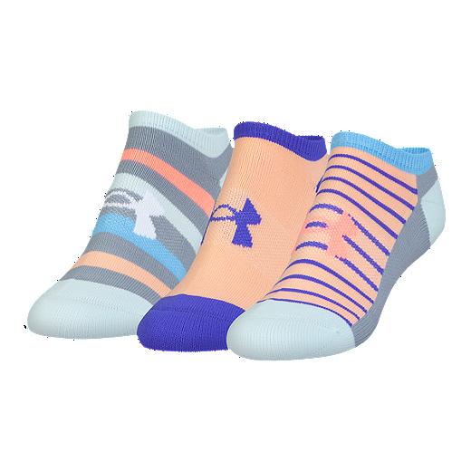 c65801964 Under Armour Women's Athletic Solo Socks 3 - Pack - SKYLIGHT BLUE/ASST