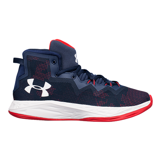 9143d404ab00 Under Armour Kids  Lightning Grade School Basketball Shoes -  Royal Navy Capri