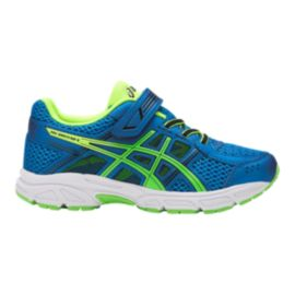 ASICS Kids' PRE-Contend 4 Preschool Shoes - Blue/Green/Yellow