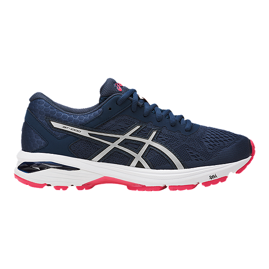 5af6ac412016 ASICS Women s GT-1000 6 Running Shoes - Blue Silver Red