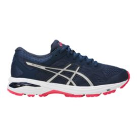 ASICS Women's GT-1000 6 Running Shoes - Blue/Silver/Red