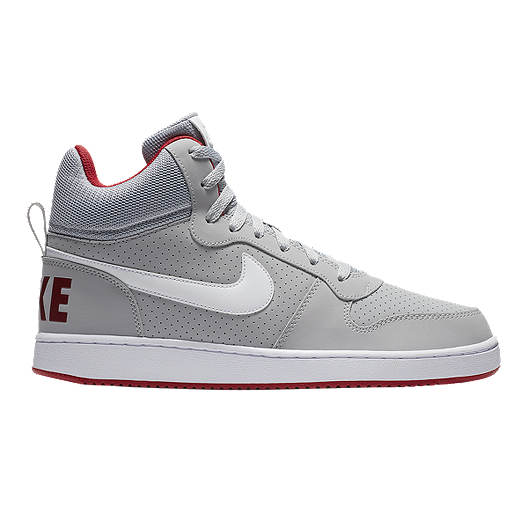 9b6d2ca9a7d6 Nike Men s Court Borough Mid Wolf Shoes - Grey White Red