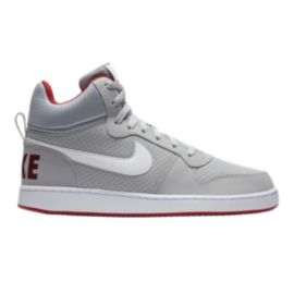 Nike Men's Court Borough Mid Wolf Shoes - Grey/White/Red