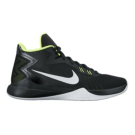 Nike Men's Zoom Evidence Basketball Shoes - Black/White