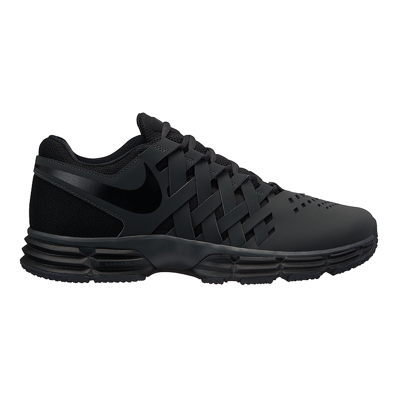 df75fa9d596a Nike Men s Lunar Fingertrap 4E Extra Wide Width Training Shoes - Black