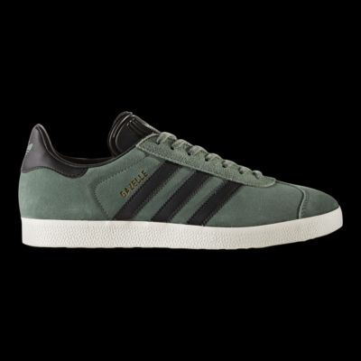 adidas uomini gazzella scarpe verdi / nero / oro sport chek