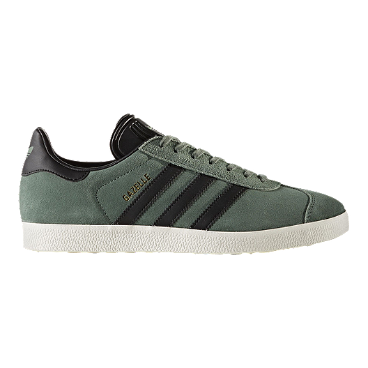 cb2fe7c0921 adidas Men's Gazelle Shoes - Green/Black/Gold | Sport Chek