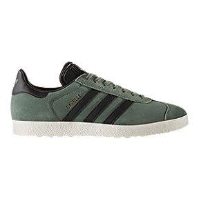 adidas Men s Gazelle Shoes - Green Black Gold c14238658