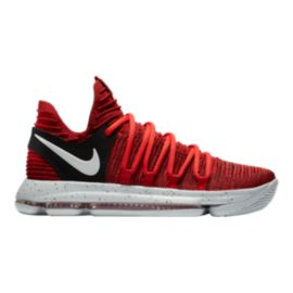 Nike Men's KDX Basketball Shoes - Red/Platinum/Black