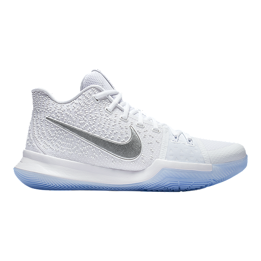 7ab2bce8f4d9 Nike Men s Kyrie 3 Basketball Shoes - White Chrome