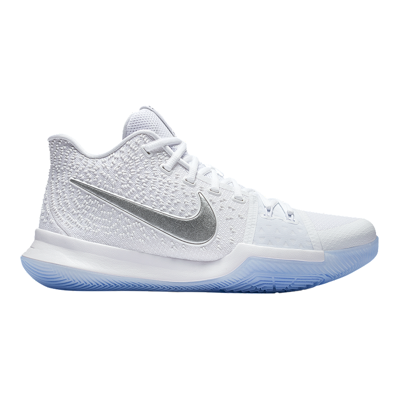 a2f0b74886caf Nike Men's Kyrie 3 Basketball Shoes - White/Chrome | Sport Chek