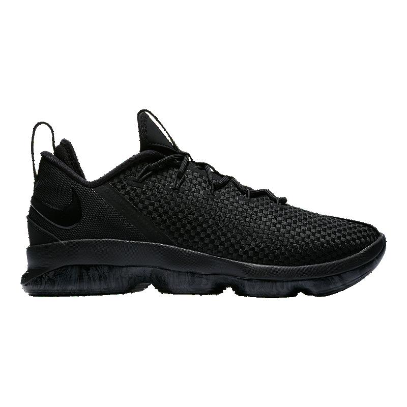 ded2b731733c64 Nike Men s LeBron XIV Low Basketball Shoes - Black Grey