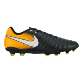 Nike Men's Tiempo Ligera IV FG Outdoor Soccer Cleat - Black/White/Laser Orange