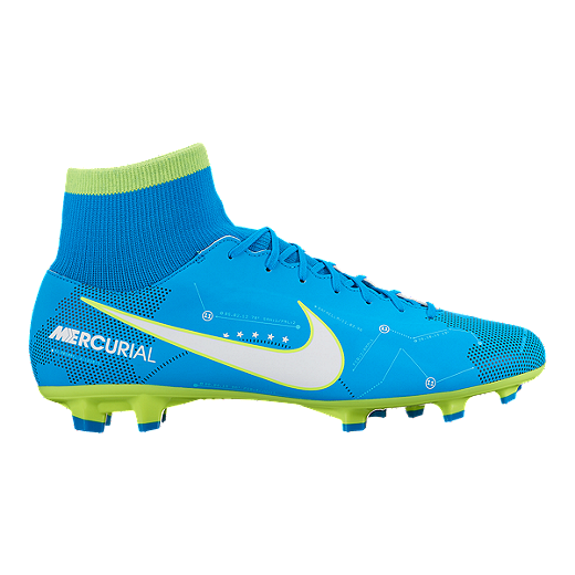 on sale 67184 b0d1c Nike Men s Mercurial Victory VI DF NJR FG Outdoor Soccer Cleats - Blue -  BLUE