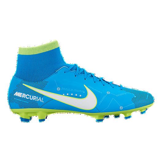 dc8f740e88ea Nike Men s Mercurial Victory VI DF NJR FG Outdoor Soccer Cleats - Blue