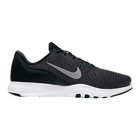90069b53e882 Nike Women s Flex Trainer 7 Wide Width Training Shoes - Black White