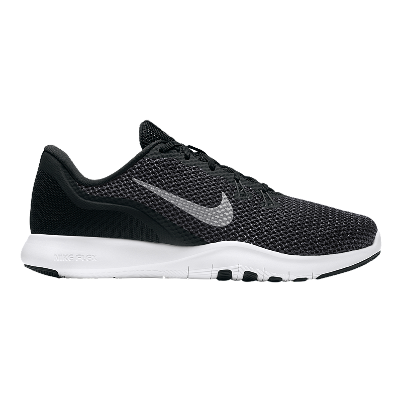 a06d5e2530a27 Nike Women s Flex Trainer 7 Wide Width Training Shoes - Black White ...