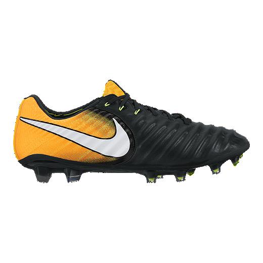 info for 31319 ba957 Nike Men s Tiempo Legend VII FG Outdoor Soccer Cleats - Black White Solar  Orange