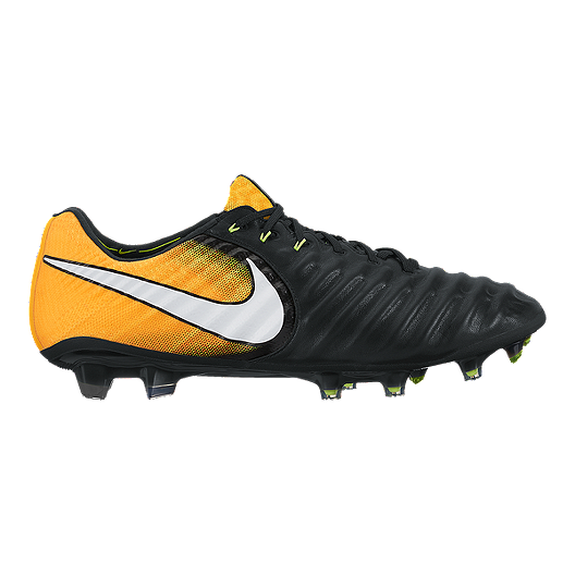 d49a034b9a7 Nike Men s Tiempo Legend VII FG Outdoor Soccer Cleats - Black White Solar  Orange