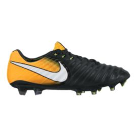 Nike Men's Tiempo Legend VII FG Outdoor Soccer Cleats - Black/White/Solar Orange