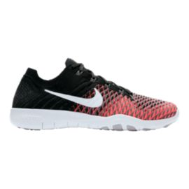 Nike Women's Free TR Flyknit 2 Training Shoes - Black/White/Punch