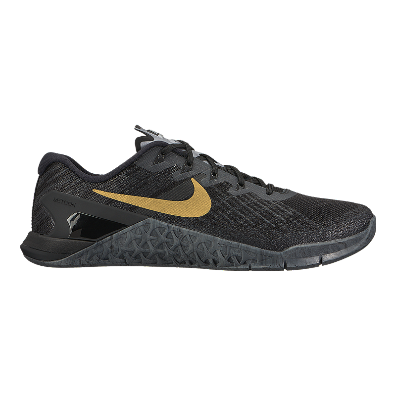 super popular 09631 1f080 Nike Womens Metcon 3 AMP Training Shoes - BlackMetallic Gold  Sport Chek