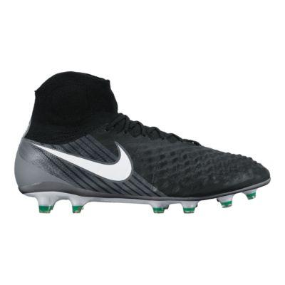 Nike Men\u0027s Magista Obra II FG Outdoor Soccer Cleats - Black/White