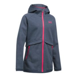 Under Armour Girls' ColdGear® Infrared Dobson Softshell Hooded Full Zip Jacket