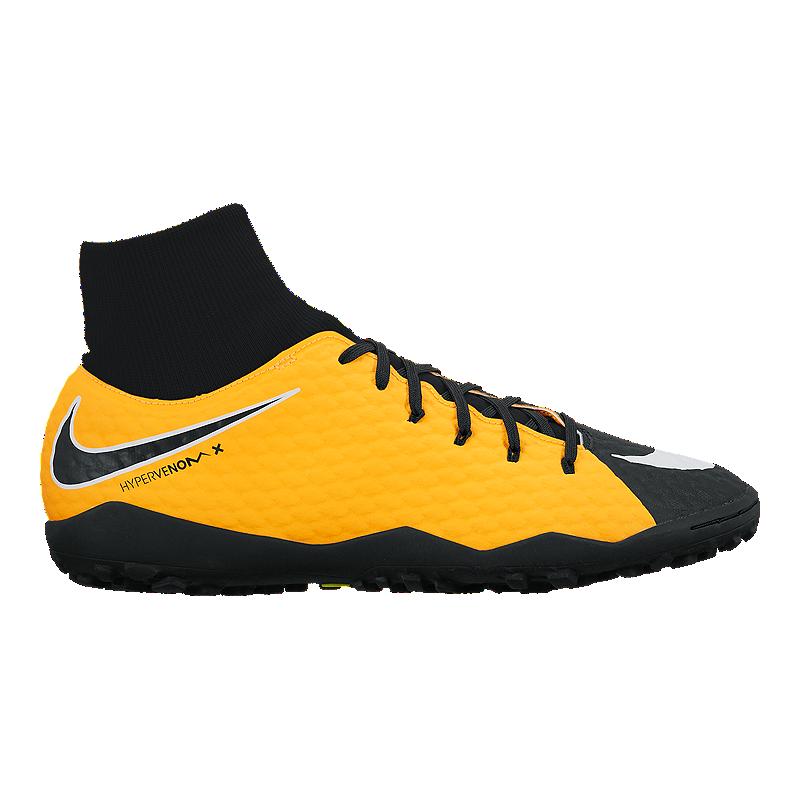 dd09bb9bc Nike Men s HypervenomX Phelon III DF Turf Indoor Soccer Shoes - Orange Black