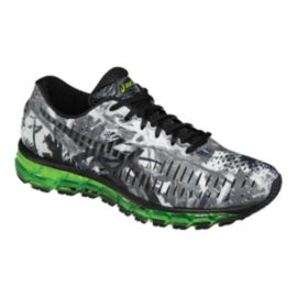 ASICS Men's Gel Quantum 360 Running Shoes - White/Grey Pattern/Green