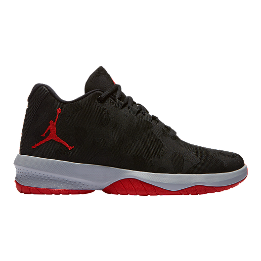 7a6f1542c6252 Nike Men s Jordan B. Fly Basketball Shoe - Black Red Grey