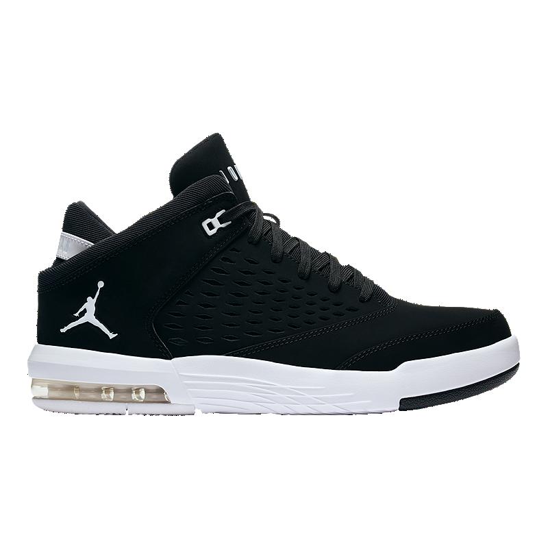 67c6b572671a46 Nike Men s Jordan Flight Origin 4 Basketball Shoes - Black Red White ...