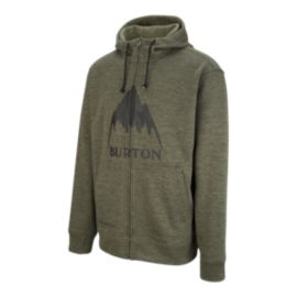 Burton Men's Oak Full Zip Hoodie - Dusty Olive Heather