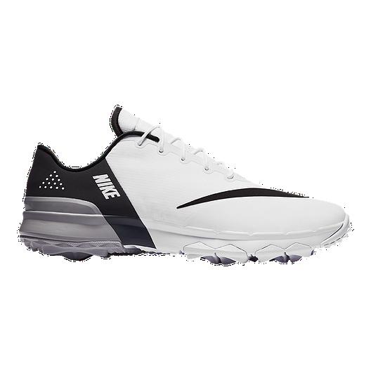 f2501cd2b9b1b7 Nike Men s FI Flex Wide Width Golf Shoes - White Grey Black