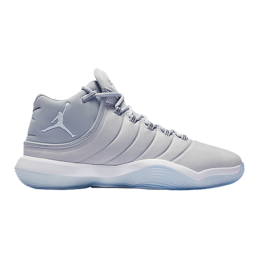 save off 3ed97 9a9d8 Nike Men s Jordan Lunar Super.Fly 2017 Basketball Shoes - Grey White    Sport Chek