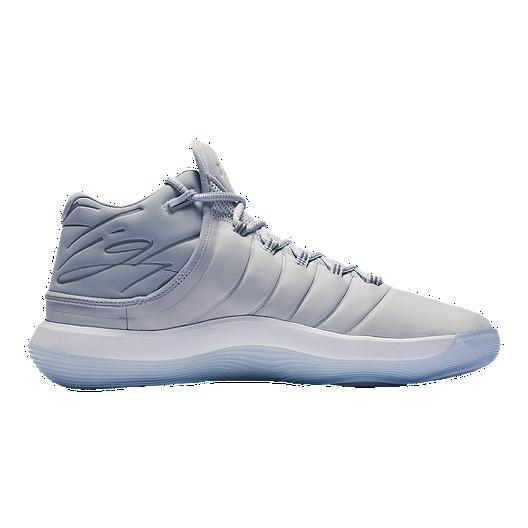 8e08bd6031d0c4 Nike Men s Jordan Lunar Super.Fly 2017 Basketball Shoes - Grey White ...