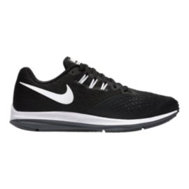 Nike Men's Zoom Winflo 4 Running Shoes - Black/White